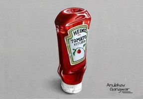 Heinz Tomato Ketchup - Drawing by Anubhavg