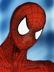 Spider-Man fan-art (iPad + Procreate) by flameofwar