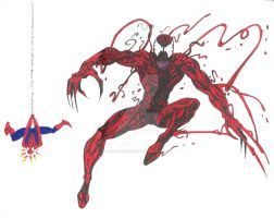 Carnage and Spider-Man by JesseAllshouse
