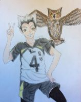 [Haikyuu!!] Hooting Around- Bokuto Kotaro by CrayCrayVanessy