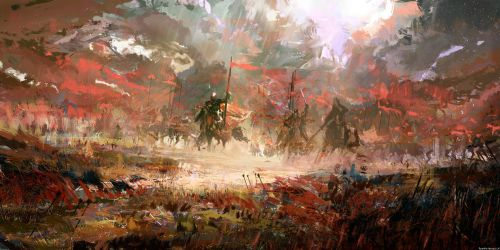 Medieval battlefield by SolarSouth