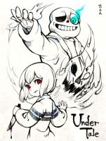 Undertale - Sans and Chara by theobsidian