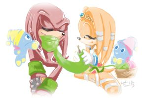 Tikal and Knuckles 2 by propimol