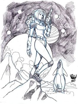 GIRL on an ALIEN WORLD by Wieringo