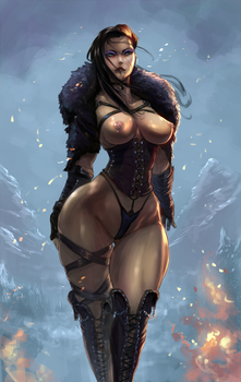 Skyrim OC commission by cutesexyrobutts