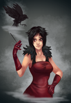 Lady with Crow by Gotetho