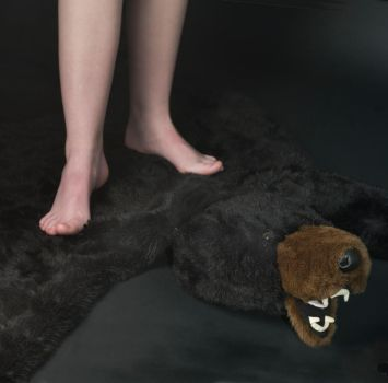 bare feet bear rug by applex