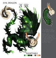 ADOPTABLE Close : Evil Dragon [Auction][paypal] by Ma-Adopt