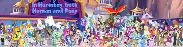In Harmony both Human and Pony (Second Version) by conthauberger