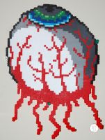 Terraria Eye of Cthulhu Perler by LillyInverse
