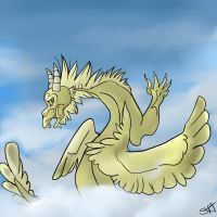 Golden Dragon by TheFallenWhisper