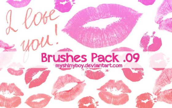 Brushes Pack .09 - Kisses by MyShinyBoy