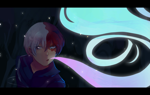 Shouto Todoroki by SteamingOwl