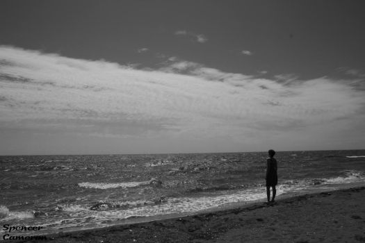 Stare across the sea by SpencerCameron