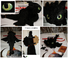 Toothless plush by Tedimo