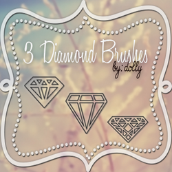 Diamond Brushes by DollyTutoriales by DollyTutoriales
