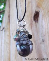 Polymer Clay Dragon Claw Necklace Pendants by MarilynMorrison
