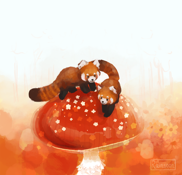 Red Pandas by Rainsoon