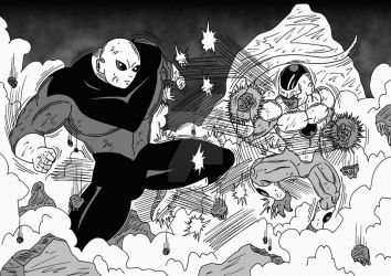 [DBS] Jiren vs True Golden Frieza by Cheetah-King