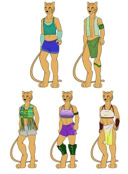 Chume'taly clothing - Cheetahs by purenightshade