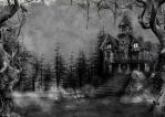 985 Haunted House Background by Tigers-stock