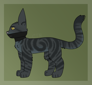 seesaw boi but he is a cat instead by CloudyTheNerd