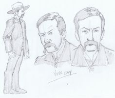Virgil Earp Character Design by aminamat