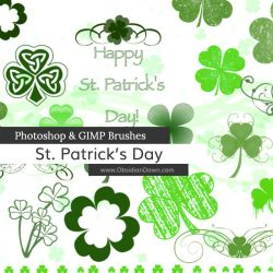 St. Patrick's Day Photoshop and GIMP Brushes by redheadstock