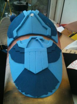 Dredd Shoulder, craft foam by dicewarrior