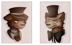 Freddy de Grantte and Thomas Fazbear by SlipingFoxy