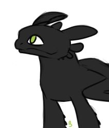 Toothless doodle by KachiWho