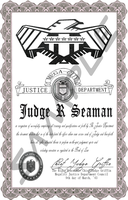 Mega-City Judge Certificate by MpulseCreations