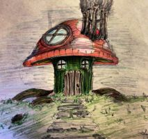 Mushroom House concept by shroomstone
