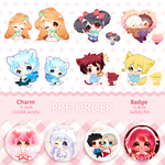 Pre order keychain badge by SugarMiki