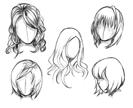 Manga hair reference sheet 1 - 20130112 by RinFaye