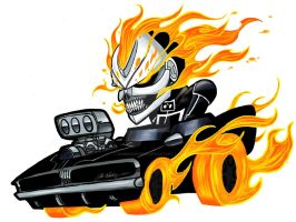 Robbie Reyes, Ghost Rider by ZombieInMyBed