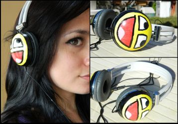 Epic face headphones by mikiangel001