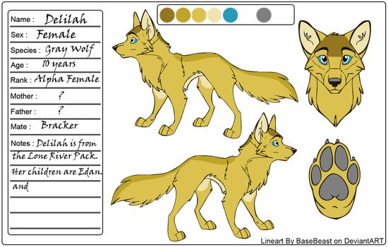 Delilah Ref Sheet~ LR OUTDATED by SapphireSquire