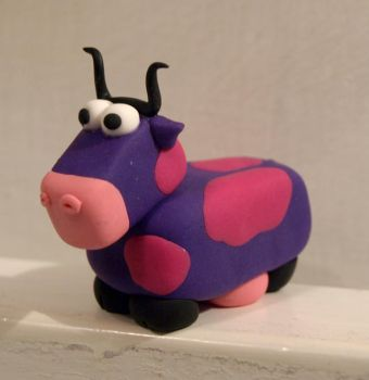 Polimer Clay Cow_n10 by serenainwonderland