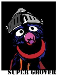 Super Grover Woodcut by acday1001