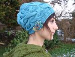 Elegant Four Seasons Hand Knit cable Hat by noisypixie