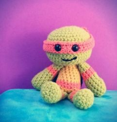 TMNT Mikey Crochet Doll by ami-nomiko