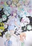 Net-juu No Susume All Characters Watercolour by MiaMaryPunkt