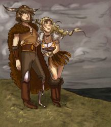 Hiccup and Astrid by NautilusL2