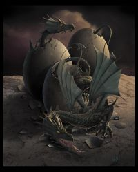 OFFSPRING  - Dragon Art - by wallace