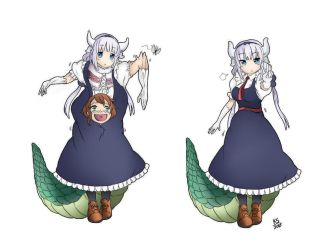 Riko And Kanna Disguise Scene (Coloured) Redone by SkinSuitLover123