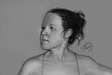 Quick study of face by KatLouhio