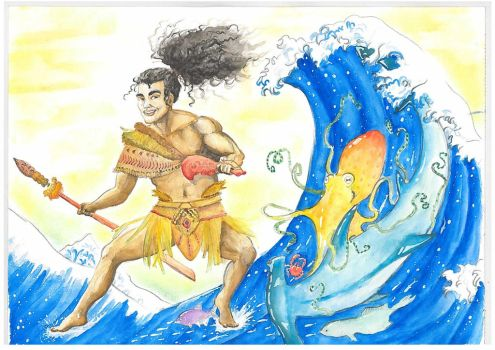 Tangaroa, God of the Sea by Malaurielle