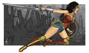 Wonder Woman by SumtimesIplaytheFool