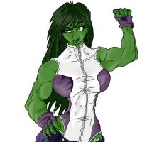 She Hulk Colored by KingVego